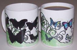 Butterflies Garden Color Changing coffee mug