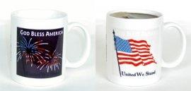 God Bless America Color Changing Mug