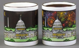 Capital 4th of July Color Changing Mug