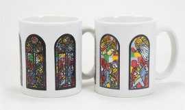 Stained Glass with Angels Color Changing Mug
