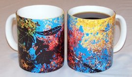 New Autumn Leaves Color Changing Mug