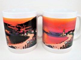 Original Summer Sunset Color Changing Mug - Lighthouse sunset